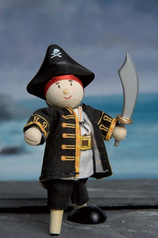 Budkins Pirate with Wooden Leg - Le Toy Van BK976