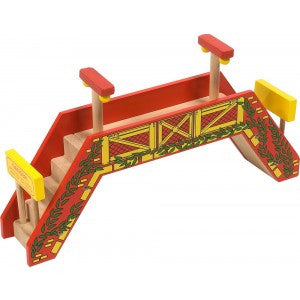 BigJigs Rail Double Track Foot Bridge