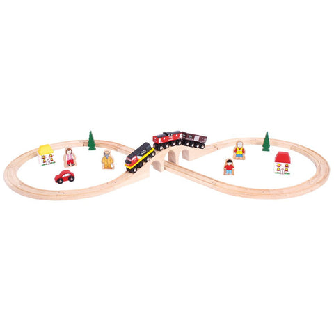 Canadian National Wooden Train Set | 30 Piece