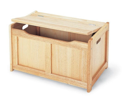 Pintoy | Natural Wooden Toy Chest Toy Box
