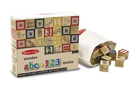 Melissa and Doug | 50 Traditional Wooden ABC / 123 Blocks