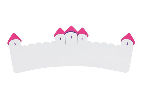 Name Plaque | Long White and Pink Castle