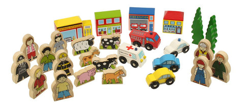 BigJigs Rail Trackside Accessory Set