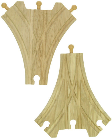 BigJigs Rail 3 Way Points | Pack of 2