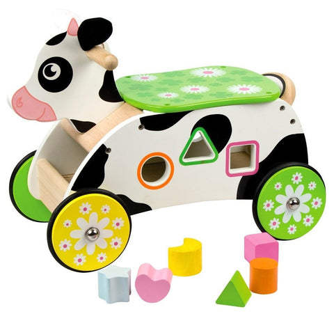 Cow Ride On with Shape Sorter