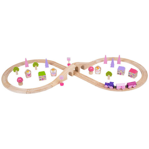 Fairy Figure of Eight Wooden Train Set | 40 Piece