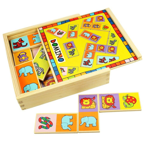 Wooden Animal Dominoes BJ529