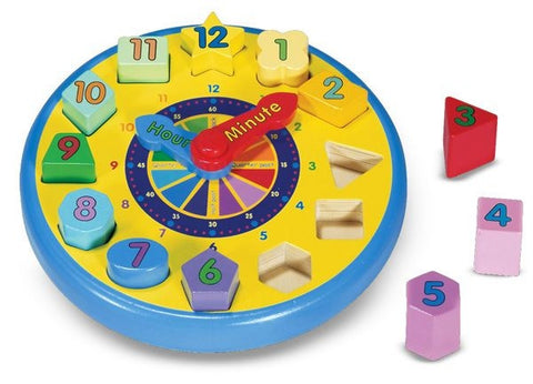 Shape Sorting Clock - Melissa and Doug 10159