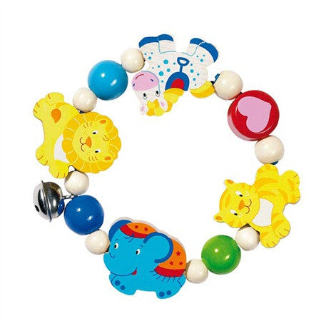 Elasticated Touch Ring Rattle (Circus)