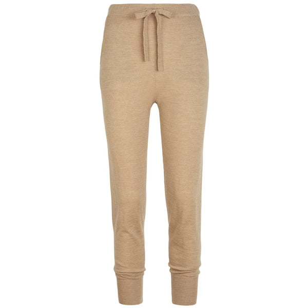 Woll-/ Cashmere-Sweatpants für Damen in camel
