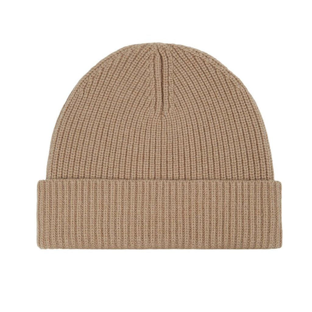 Unisex Cashmere-/ Woll-Beanie in camel