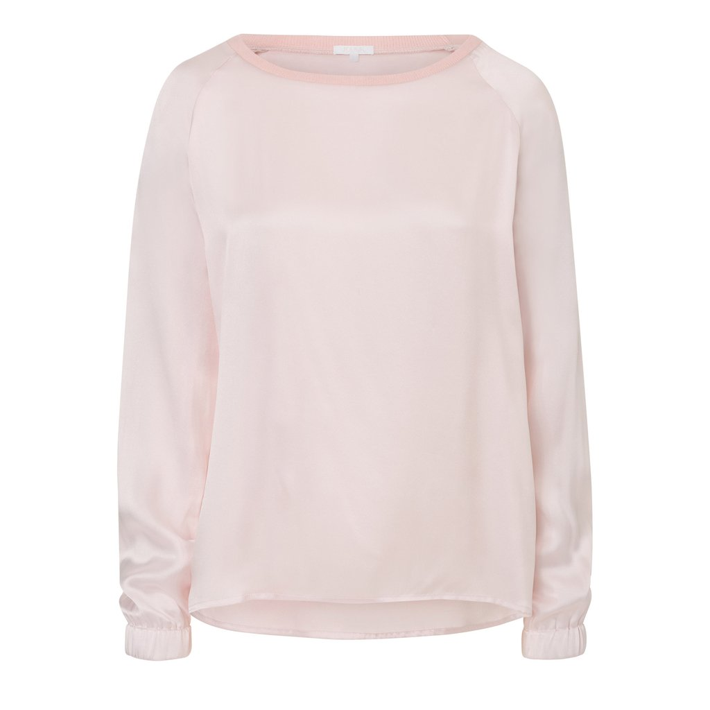Seidenlongsleeve für Damen in rose