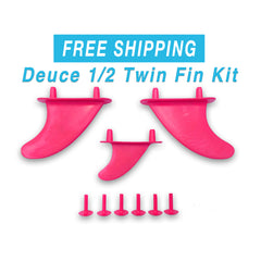 Deuce 1/2 Twin-Fin Kit With Trailer Fin with two plugs