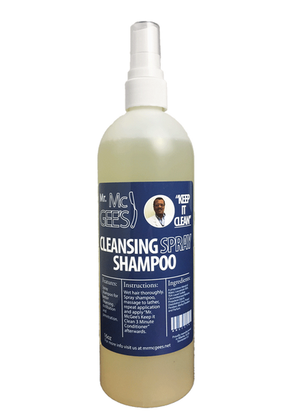 "Mr. McGee's ""Keep it Clean"" Cleansing Spray Shampoo  Shampoo - Natural Hair Care - NaturallySILK2"