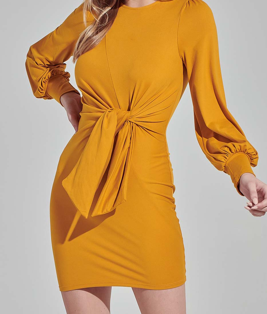 Mustard Alex Bodycon Dress