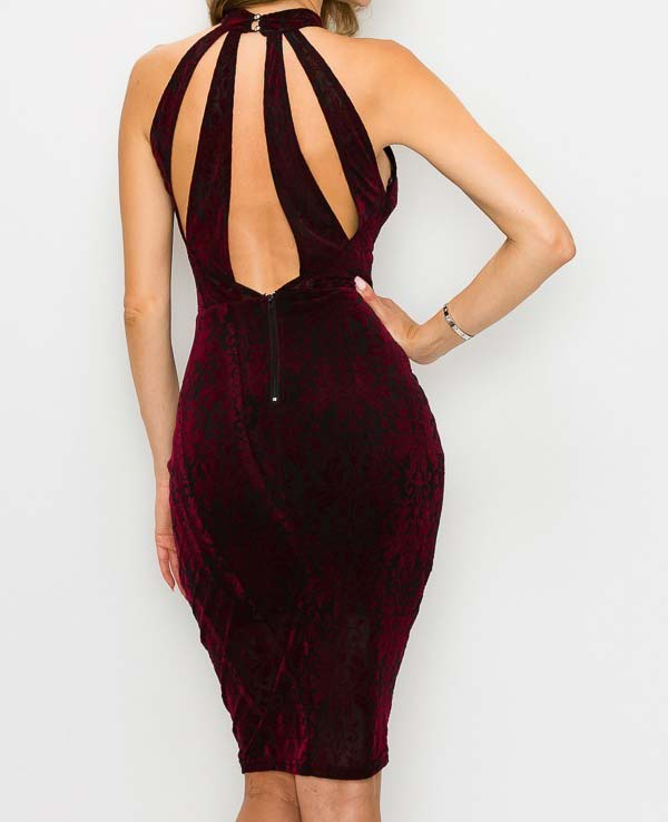 Burgundy Toni Bodycon Dress