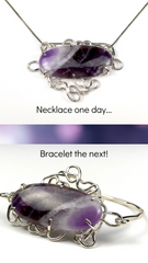 Amethyst Bracelet and Necklace in One Piece!