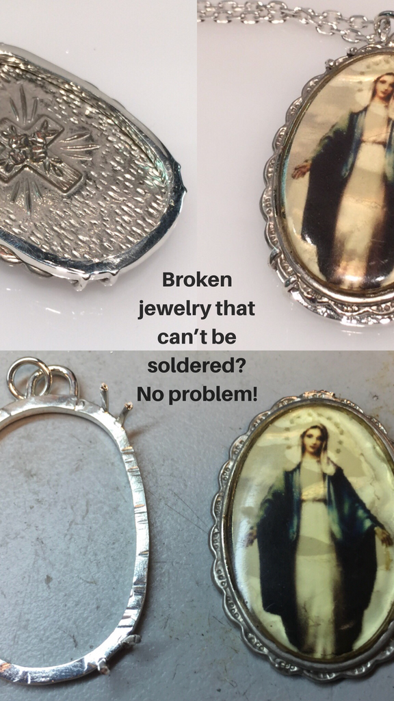 What to do with sentimental jewelry that can't be soldered