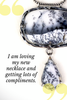 Merlinite, Dendrite Opal, Snowscene Agate... One-of-a-kind necklace