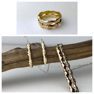 From Wedding Band to Necklace and Earrings - Before and After
