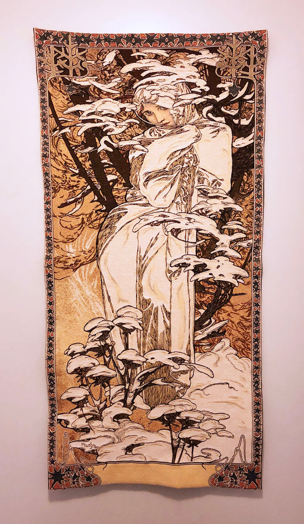Mucha Winter Tapestry Inspiration Necklace