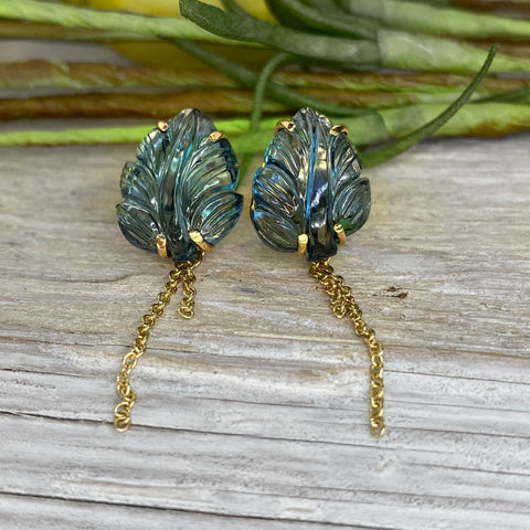 mettle by abby amazonite tassel earrings