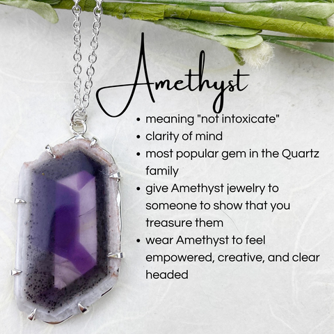 all about amethyst crystals and jewelry