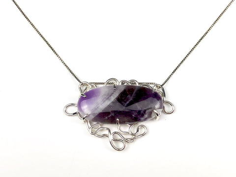 Amethyst Bracelet and Necklace in One Piece