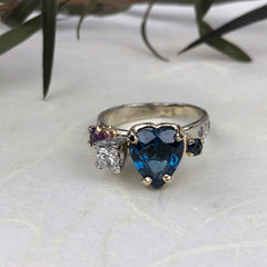 Blue Heart Ring Mettle by Abby