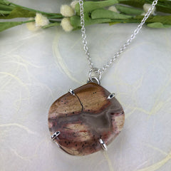 Brecciated Jasper Necklace Mettle by Abby