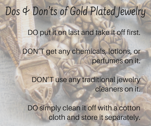 how to take care of gold plated jewelry