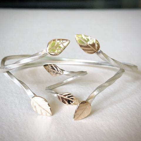 Gold Leaves Branch Jewelry
