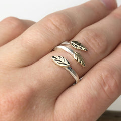 Gold Leaves Ring Mettle by Abby