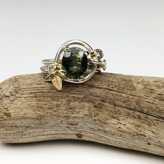 Green Leaf Engagement Ring Mettle by Abby