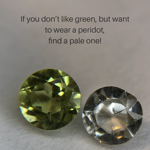 pale green peridot