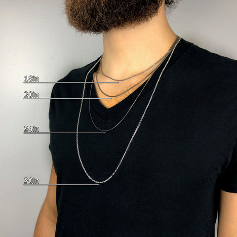Mens Chain Length Guide