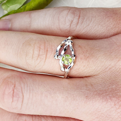 Peridot Branch Ring Mettle by Abby