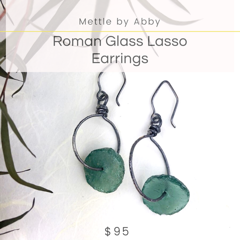 Roman Glass Mettle by Abby Earrings