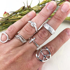 Silver Bridesmaids Rings Mettle by Abby