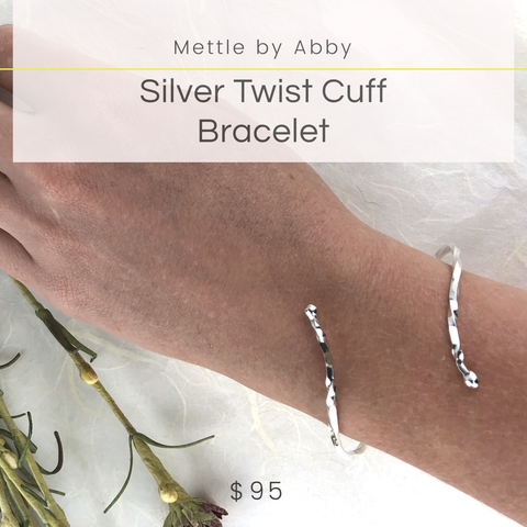 Silver Twist Cuff Bracelet Mettle by Abby