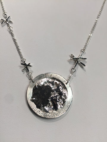silver moon rock necklace jewelry