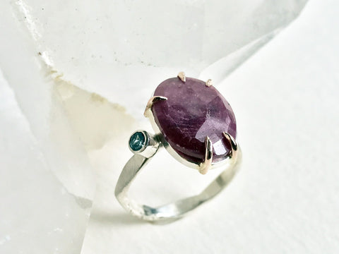 Ruby and Blue Topaz Ring