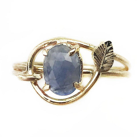 14K Sapphire Vine Ring - Mettle by Abby