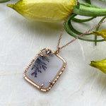 14k Rose Gold Dendrite Necklace