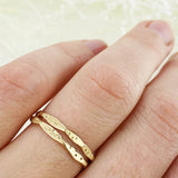 14k Yellow Gold Star Dust Bands