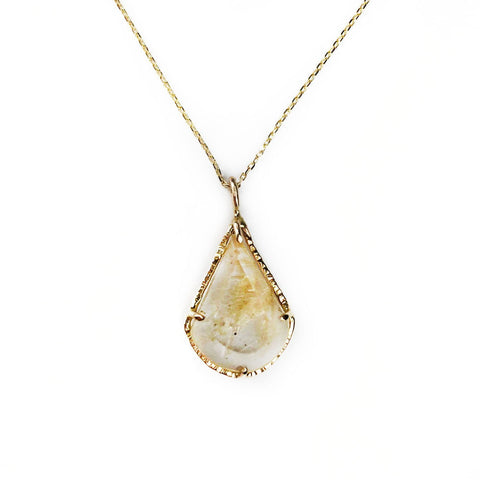 14k Gold Drop Necklace - Mettle by Abby
