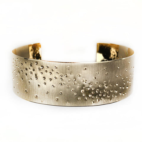 14k Yellow Gold Star Dust Cuff - Mettle by Abby