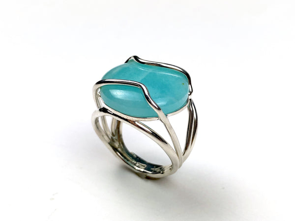 Amazonite Ring silver