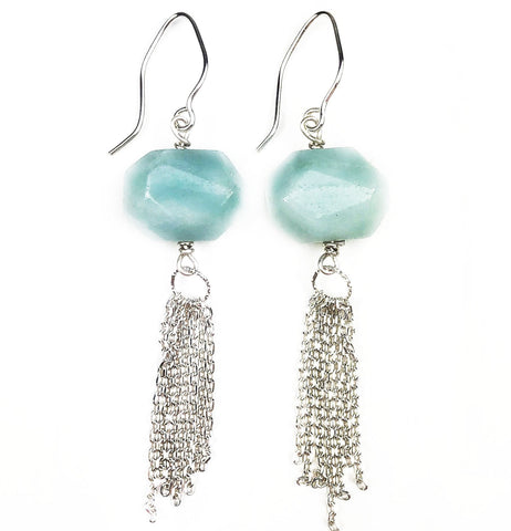 Sea Spray Tassel Earrings - Mettle by Abby