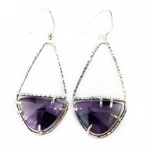 Amethyst Tip Earrings - Mettle by Abby